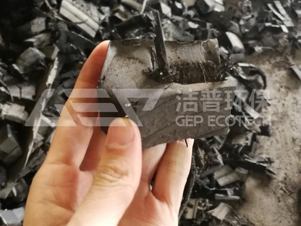 橡胶轮胎撕碎机项目处理案例